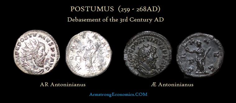 Postumus AR AE Antoninianus - R