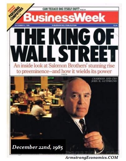 Business Week King of Wall Street 1985