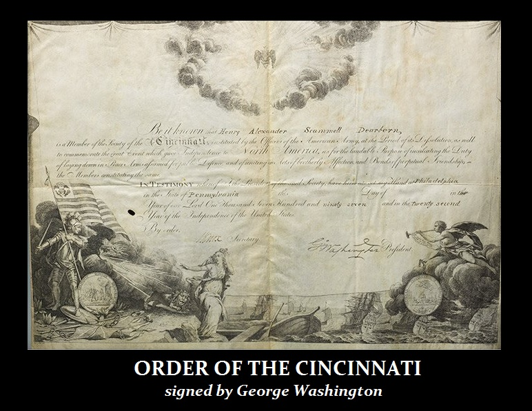 order OF THE CINCINNATI