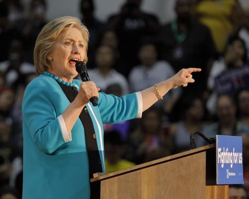 Hillary Preaching