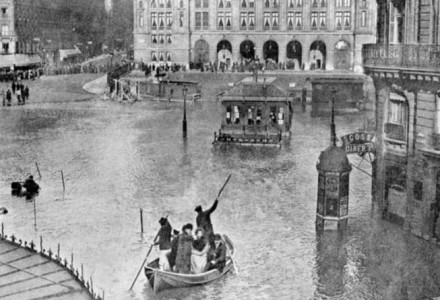 France under Water for 2 months 1910