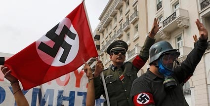 greek-protest-natzi