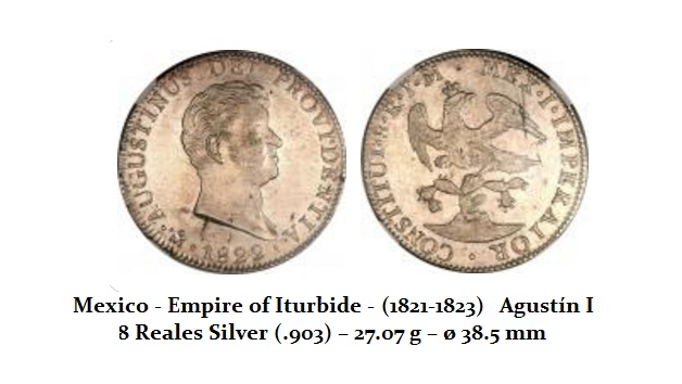 Empire of Iturbide - Real (1821-1823) 8 Reals