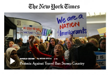 NYT Protest Immigrants