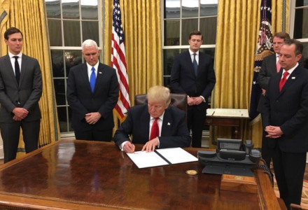 Trump Signed 1st Executive Order