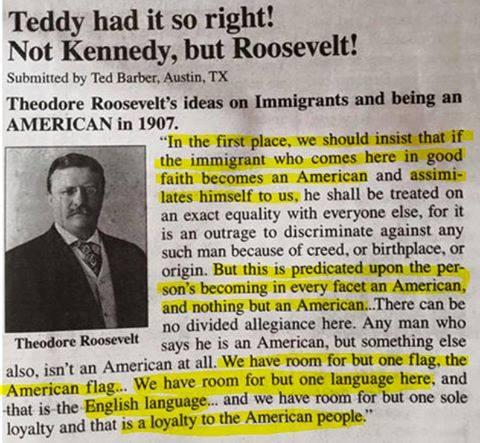teddy on immigants