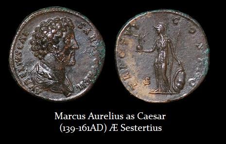 Marcus Aurelus Caesar AE Sestertius-r