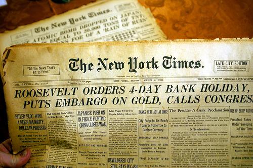 NYT- 1933 Bank Holiday
