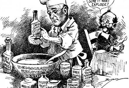 Roosevelt Baking Cartoon