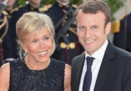 Macron & Wife