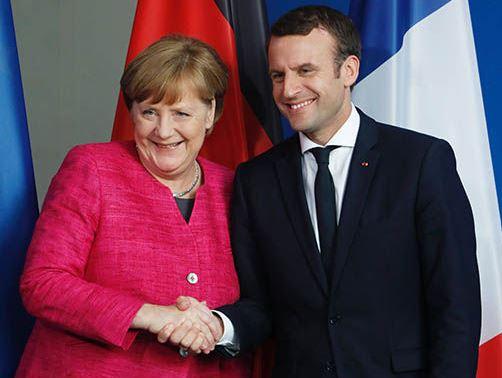 Arañas y Loros Merkel-Macron